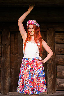 Sukne - Pestrofarebná sukňa - 8446721_