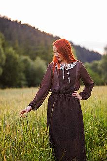 Šaty - Bodkované vintage šaty - 8446733_