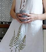 Šaty - Ľanové šaty s papradím - 8446426_