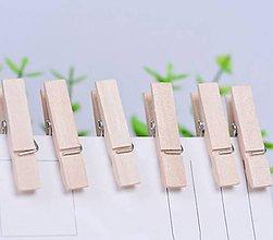 Polotovary - ST110 Štipce drevené malinké 2,5 cm - 8447004_