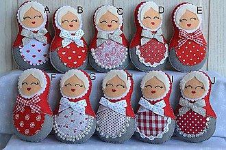 Dekorácie - Vianočné matriošky - 8446129_