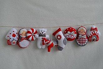 Dekorácie - Vianočná girlanda - 8446451_