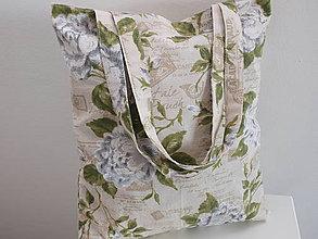 Nákupné tašky - ...ruže s písmom... - 8446378_
