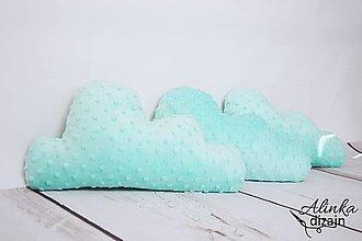 Textil - Minky mint obláčikový vankúšik - 8448479_