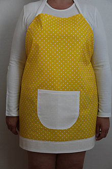 Iné oblečenie - Žltá bodkovaná zásterka - 8450117_