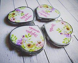 Darčeky pre svadobčanov - Svadobné zrkadielko - 8450275_