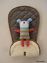 Textil - Bugaboo Seat Liner ARMY by Diesel/ Podložka do kočíka HNEDÁ Camel kaki Elegant prešitie na mieru - 8450310_