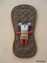 Textil - Bugaboo Seat Liner ARMY by Diesel/ Podložka do kočíka HNEDÁ Camel kaki Elegant prešitie na mieru - 8450317_