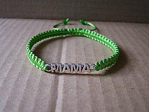 Náramky - MAMA (zelenkavý) - 8448625_