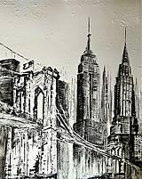 "Obrazy - ""BROOKLYN BRIDGE"" -mesto NewYork - 8448644_"