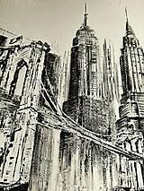 "Obrazy - ""BROOKLYN BRIDGE"" -mesto NewYork - 8448646_"