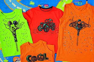 Detské oblečenie - maľované tričká - 8449386_
