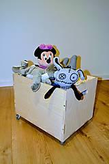 - Drevený box na hračky - 8450572_