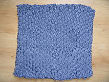 Úžitkový textil - pletený vankúšik šedomodrý - 8449372_