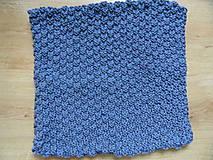 Úžitkový textil - pletený vankúšik šedomodrý - 8449373_
