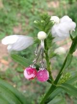 Náušnice - Ružové achátové náušnice v striebre - 8450125_
