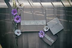 Papiernictvo - Klasický fotoalbum, papierový recyklovaný obal s čipkou - 8449940_