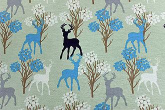 Textil - úplet Jelene v zelenom - 8449602_