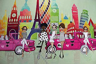 Textil - ZĽAVA úplet Dievčatá, digitálna tlač - 8449654_