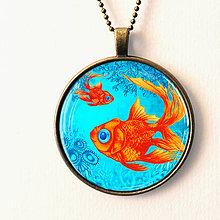 Náhrdelníky - Zlatá rybka - autorský náhrdelník - prívesok - 8448434_