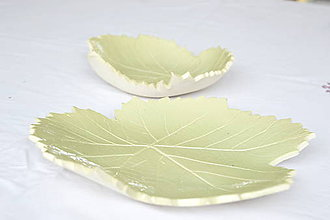 Nádoby - Sada keramických mís Listy z hrozna - 8448621_