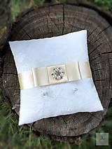 Prstene - Vankúšik pod obrúčky Simplicity Ivory - 8450330_