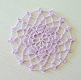 Dekorácie - Okrúhla minidečka, fialová - 8449208_