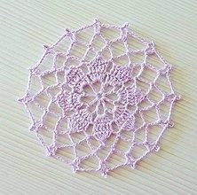Úžitkový textil - Okrúhla minidečka, fialová - 8449208_