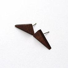 Náušnice - Mahagónové trojuholníčky - 8448471_