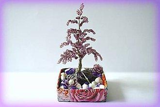 Dekorácie - Korálkový stromček - 8451750_