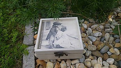 Krabičky - drevená krabička - šperkovnica - vintage - 8451980_