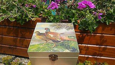 Krabičky - drevená krabička - 8452065_