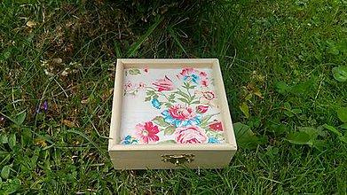 Krabičky - drevená krabička - šperkovnica - 8452432_