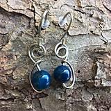 náušnice s modrým achátom 2