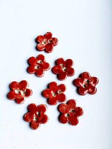 Drobnosti - červené gombíky - 8452021_