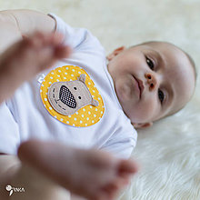 Detské oblečenie - body LEVÍK (dlhý/krátky rukáv) - 8451774_