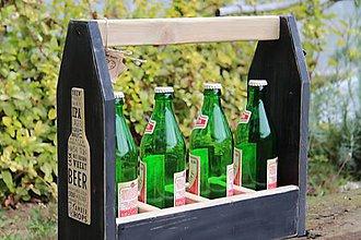 Nábytok - Prepravka na fľaše čierna - 8450890_