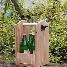 Nábytok - Prepravka na fľaše hnedá - 8450943_