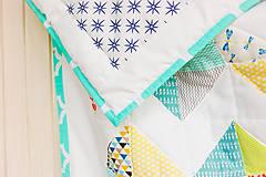 Textil - Baby ribon quilt boy (detský prehoz) - 8452357_