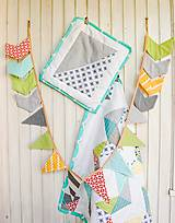 Textil - Baby ribon quilt boy (detský prehoz) - 8452360_