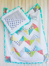 Textil - Baby ribon quilt boy (detský prehoz) - 8452361_