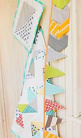 Textil - Baby ribon quilt boy (detský prehoz) - 8452362_