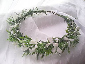 """Ozdoby do vlasov - Svadobný kvetinový venček do vlasov """"...rozmarín zelený..."""" - 8450782_"""