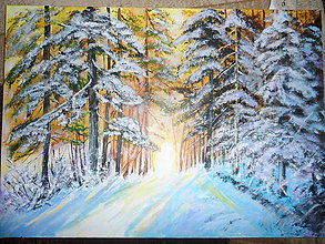 Obrazy - V hlbokom lese - 8451394_
