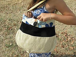 Veľké tašky - Bruchaňa béžovo - modrá - 8453562_
