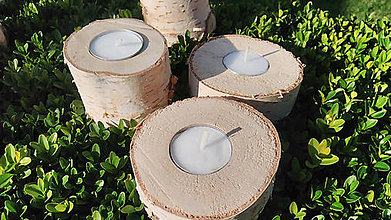 Svietidlá a sviečky - Drevené svietniky - 8450658_