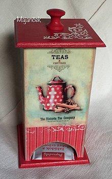 Nádoby - domček na čaje (Šedá) - 8450651_