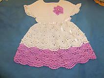 Detské oblečenie - Háčkované detské šaty - 8451841_