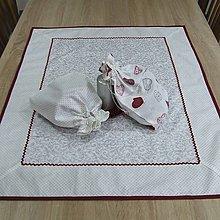 Úžitkový textil - Strieborné variácie ornamenty a bodky - obrus obdĺžnik 80x62 - 8451005_