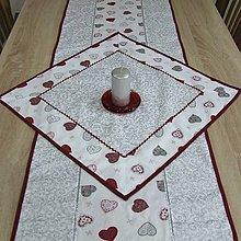 Úžitkový textil - Strieborné variácie srdiečka a ornamenty - obrus štvorec 51x51 - 8451979_